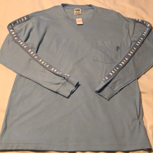 9d9418f956 NEW VS PINK Long Sleeve Campus Tee